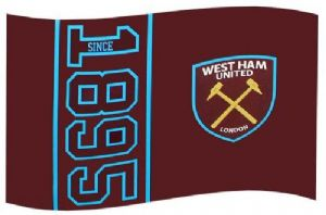 West Ham Utd Football Club Large 5ft x 3ft Flag style (SN)